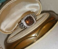 Chuck Clemency NYCII Sterling silver pave red/brown diamond treasure ring