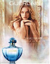 PUBLICITE ADVERTISING 065  2014  GUERLAIN  parfum SOUFFLE DE SHALIMAR