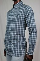 Ralph Lauren Mens Dress Shirt Blue And Forest Green Plaid~NWT~