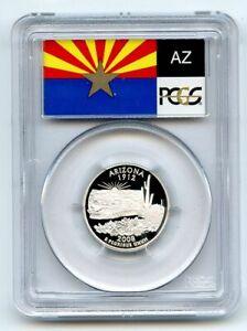 2008 S 25C Silver Arizona Quarter PCGS PR70DCAM