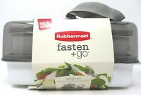 Rubbermaid Fasten + Go Entree Kit Lunch Box w/ Containers Smoke Gray 11 Piece