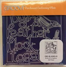 Nuevo-Birds of a Feather A6 Cuadrado groovi Placa para pergamino Craft