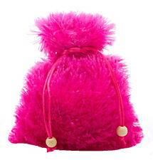 5 x 7 Ultra-Plush Cashmere Drawstring Dice Bag - Hot Pink