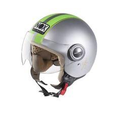 Casque scooter Moto Jet NOX N210 Gris Vert XS