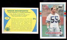 1989 Topps UK United Kingdom BRIAN BOSWORTH Seattle Seahawks Card Mint