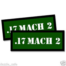17 MACH 2 Ammo Can Stickers 2x Ammunition Case Labels  GREEN Decals 2 pack
