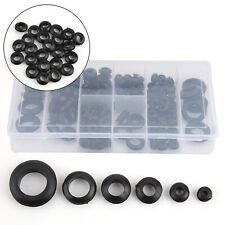 300 Stücke weiß Gummi Gummitüllen Kabel Durchführung Schutz 6mm x 12mm
