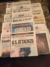 911 Newspaper Coverage Lot #1 Everyday From 9/11/01 to 9/22/01+Extras-Cincy Enq.