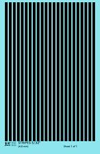 K4 HO Decals Black 5/32 Inch Stripes Set