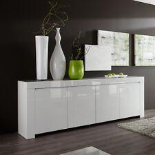 Sideboard weiß echt hochglanz lackiert Wohnzimmer Kommode Amalfi 210 cm breit