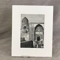 1890 Print Old Shah-i-Zinda Mosque Samarkand Islamic Antique Original