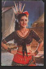 Divya Bharti  -  indian  old bolly wood  actress  --  Rare Post card