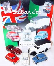 Lledo Vanguards 1:43 THE ITALIAN JOB MINI COOPER & LJ5 Van & JAGUAR 5 Car Set`04