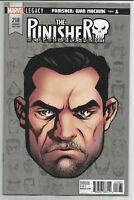 Punisher #218 Mike McKone 1:10 Headshot Variant Marvel Legacy 2017