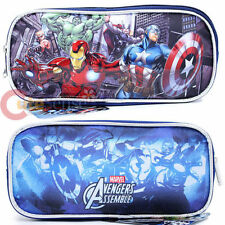 Marvel Avengers Heroes Pencil Case Accessory Case Bag Iron man Hulk Thor Captain