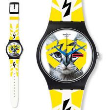 swatch new gent elecrochat suob135 orologio bianco uomo donna da collezione