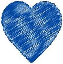 30 Custom Blue Artistic Heart Personalized Address Labels