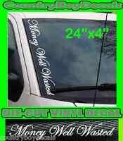 Redneck Vertical Windshield Vinyl Decal Sticker Truck Car