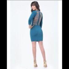 Bebe Brigit Braided Back Bandage Dress Cocktail Evening Mini Blue S NWT $119