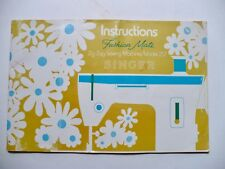 Misprint! 1971 Fashion Mate Singer Sewing Machine Model 257 Instruction Manual