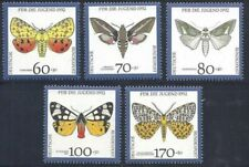 BUTTERFLIES 1992 MNH West Germany FRG complete set BEAUTIFUL Moths night insects