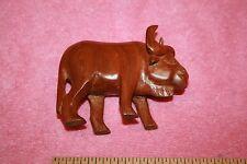 Vintage Beautiful Carved Wood Water Bigger Buffalo Animal Statue