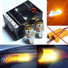 Hyper Flash Free LED Light 2357 Amber Orange Two Bulbs Front Turn Signal Upgrade