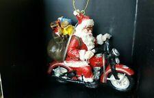 2005 Harley Davidson Santa Clause on Motorcycle Christmas Ornament