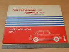 MANUALE USO MANUTENZIONE ORIGINALE FIAT 128  AMERICA 1977
