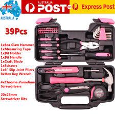 39 x Household Tools Home Garden Set Kit Box Repair Hard Case DIY Handy AU stock