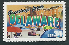 Scott #3568...34 Cent...Greetings From America...Delaware...3 Stamps