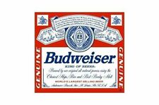"""Budweiser Label Decal Sticker 9""""x8"""" great for Beer Fridge or Toolbox"""