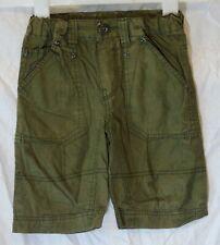 Boys BHS Khaki Green Panelled Cotton Long Board Summer Shorts Age 3 Years