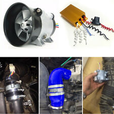 12V 16.5A Auto Car Power Turbine Booster Turbo Charger Fuel Saver w/ Controller