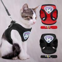 Mesh Cat Harness Clothes Jacket Puppy Kitten Pug  Vest Walking Leash Leads AU