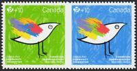 COMMUNITY FOUNDATION = QP DIE CUT = se-tenant pair from BKLT MNH-VF Canada 2016