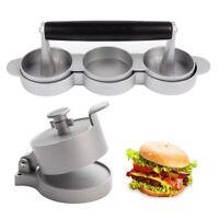 "Burger Press Hamburger Patty Maker Non-stick Meat Beef Patty Mold 4 1/2"", 2 1/2"""