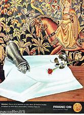 PUBLICITE ADVERTISING 026  1964  Franc Or  parure de lit draps Christine