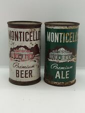 Monticello Beer & Ale Flat Top Beer Cans Norfolk Virginia