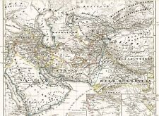 ☪ 🕌 🕋 174 años viejo mapa rico califas califato al jazeera Iraq 1844