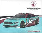 "2019 DAVID RAGAN ""SHRINERS HOSPITALS"" #38 NASCAR MONSTER ENERGY CUP POSTCARD"