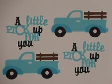 A little PICK up FOR you truck greeting card die cuts