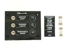 Schalttafel mit 3 Schaltern und Sicherungen - 12 Volt