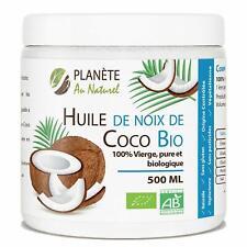 Huile de Coco Bio - 500 ml - Vierge,Pure, Biologique Multi-usage Soins Cuisine