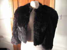 Vintage Black Skunk Fur Jacket - circa early 1940's