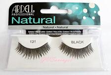 NIB~ Ardell Natural Lashes #131 False Fake Eyelashes Black Fashion