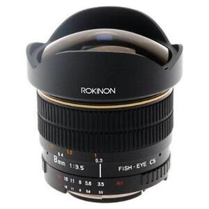 Rokinon 8mm f/3.5 Aspherical Lens For Nikon