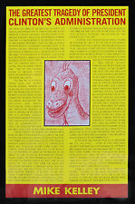 Mike Kelley Original Limited Exhibition Poster (1999, Patrick Painter) NM/MNT.