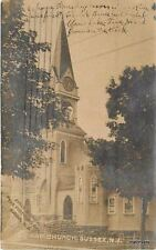 1904 Baptist Church Sussex New Jersey RPPC Real photo postcard 5555
