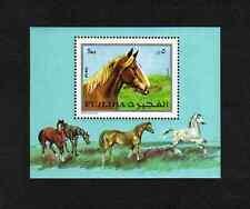 Fujeira 1970 Horses miniature sheet (Mi BL84A) MNH